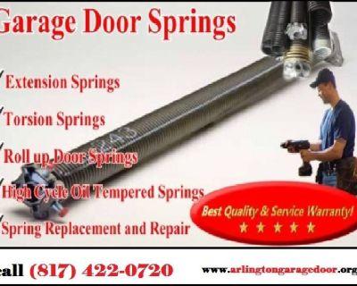 Local 1 hrs Garage Door Spring Repair Services in Arlington, TX – Call 817-422-0720
