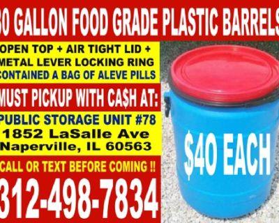 Food Grade Plastic Rain/Storage Barrels