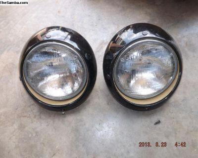 Early Porsche 911 Head Lamp Assemblies