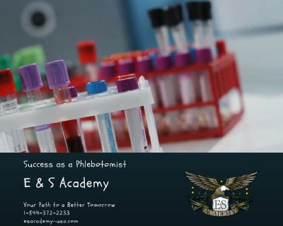 Phlebotomy Certified Program is just 4 weeks at E&S Academy!