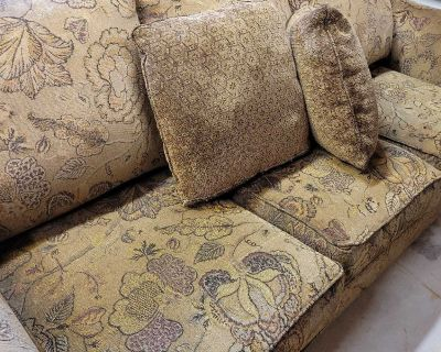 Used matching couch and arm chair