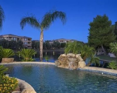 LAKEFRONT AT OCOTILLO LAKES - PRIVATE HEATED POOL AND BOAT/FISHING DOCK - Chandler