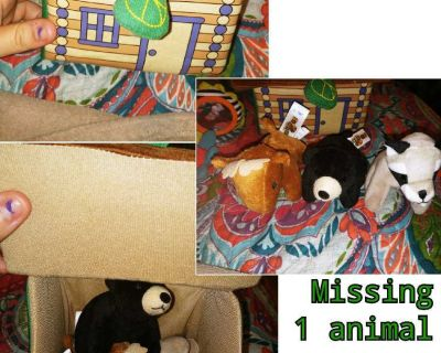 My forest friends animals and house