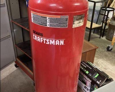 Old craftsman 60 gallon air compressor tank