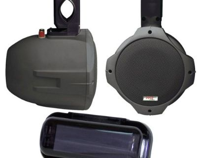 "Pyle Marine Plmrb65 6.5"" 2-way Black Wake Board Speakers Radio Shield Gasket"