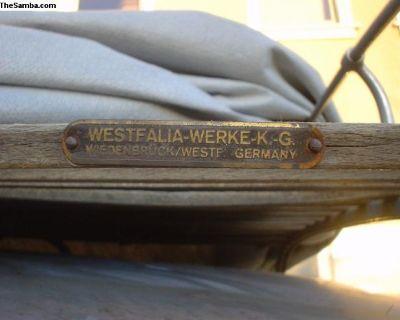 [WTB] Westfalia Original roof rack tag