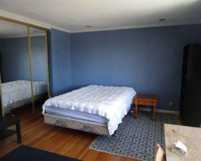 Large master bedroom & bath -furnished