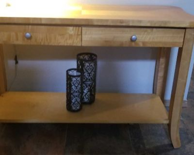 Solid wood sofa/console table