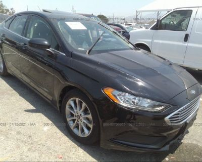 Salvage Black 2017 Ford Fusion