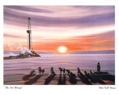 """""""The New Horizon"""" Wall Art Print - Dog Team - Life in the Arctic - Signed 1981"""