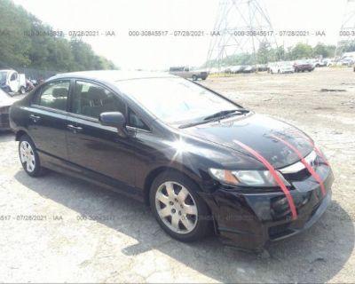 Salvage Black 2009 Honda Civic Sdn