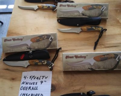 4 specialty hunting knives