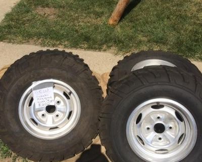 New ATV tires and rims, never been on a atv.