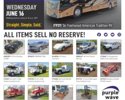 June 16 vehicles and equipment auction