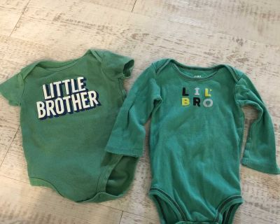Carter s little brother onesies