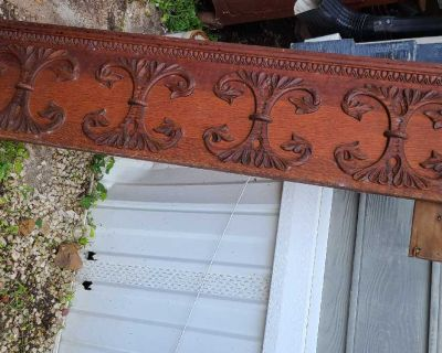 Antique decorative wood from a buffet