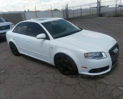 Salvage White 2008 Audi A4
