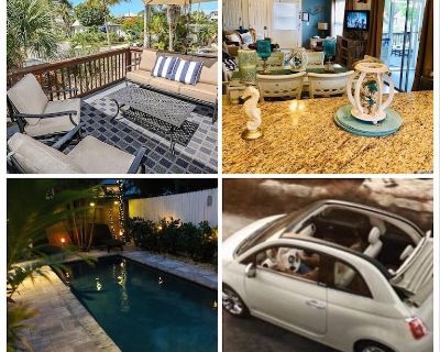 The Austin Pearl - 3 BR Beach House, Heated Pool, Free Fiat Convertible - Fort Myers Beach