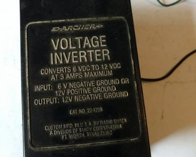 Voltage inverter 6 volt to 12 volt