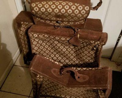 1950's Vintage Louis Vuitton Luggage 4 Pieces