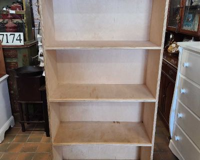 Solid wood bookcase $125
