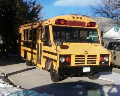 Unique Blue Bird Bus Food Truck in Aurora, CO