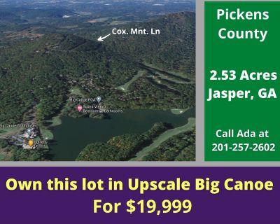 2.53 Acres for Sale in Jasper, GA