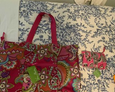 New w/Tags Vera Bradley Bags both for $10 large Tote in a pouch and Travel Belt Bag