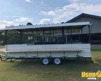 8' x 20' BBQ Concession Trailer Mobile Barbecue Restaurant w/ Seating