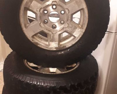 "CHEVY/GMC 17"" RIMS WITH BF GOODRICH TIRES ON THEM 265/70 R17"