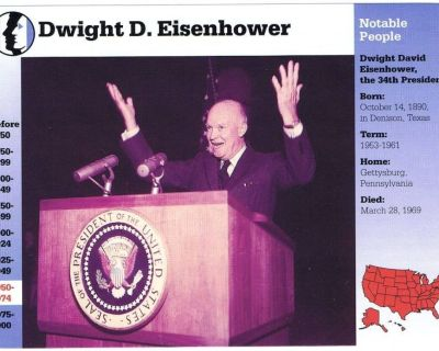 Misc. Information Cards - Presidents of U. S. Eisenhower, Lincoln, More