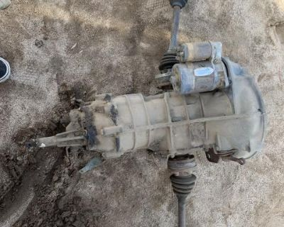 IRS transmission with axles