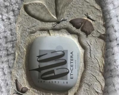 Butterfly stone picture frame