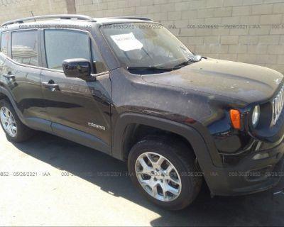 Salvage Black 2015 Jeep Renegade