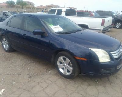 Salvage Blue 2007 Ford Fusion
