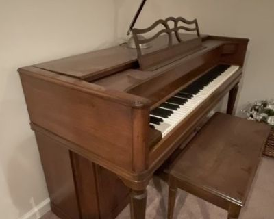 FS Collectible Mid-Century Aerosonic by Baldwin Upright Piano w/ bench