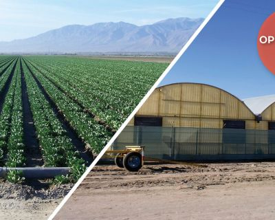 80 ac Farmground with Greenhouses