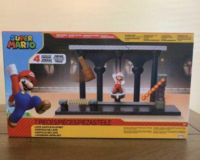 NEW Super Mario Lava Castle Playset