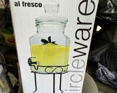 Drink dispenser with stand, $10