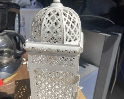Candle holder Lantern Centerpieces 8 inch tall