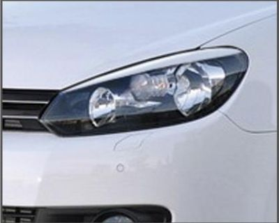 Vw Golf Gti Mk6 Eyelids Eyebrows Front Headlight Light Brows Abs Golf 6 Mkvi New