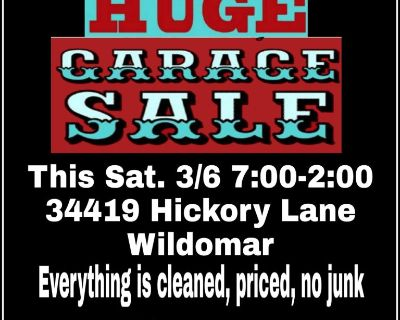 THIS SATURDAY 3/6 34419 Hickory Lane, Wildomar