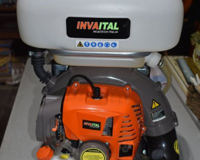 Invatech Backpack Mosquito Fogger, Mist Duster, Blower, Atomizer , Disinfector - Used Once!