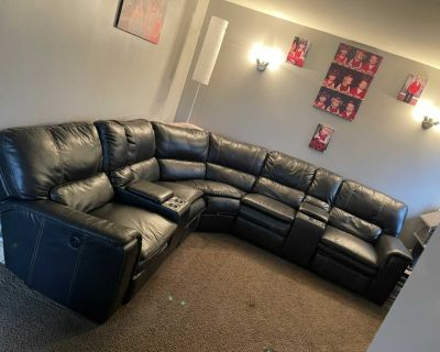 6 Seater Leather Sectional
