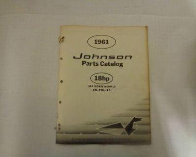 1961 Johnson Parts Catalog 18 Hp Motors @@@check This Out@@@