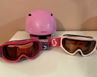 Youth Snowboard Helmet and Goggles