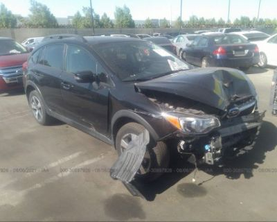 Salvage Black 2017 Subaru Crosstrek