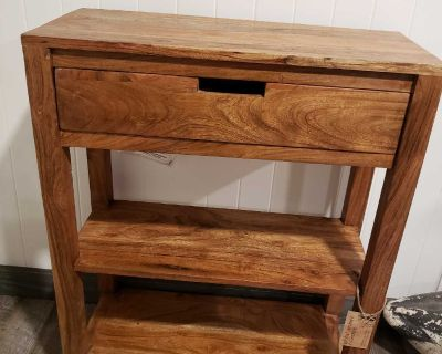 Solid wood Table with storage