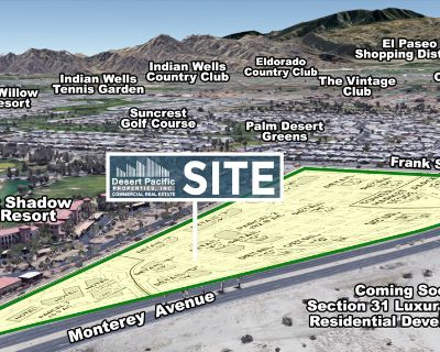 17.16 Acres Hospitality & Retail at Key Corner in Rancho Mirage