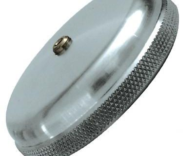 Moon Gas Cap Vented Screw On Knurled Vtg Style Bobber Chopper Cafe Racer Fuel